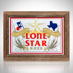 Lone Star- Texas  Original Vintage Reverse Painted Bar Mirror/Advertisement