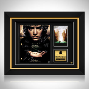 Lord of The Rings Fellowship Script Limited Signature Edition Studio Licensed Custom Frame