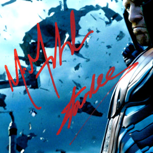 Magneto - Hand-Signed Photo By Michael Fassbender & Stan Lee Custom Frame