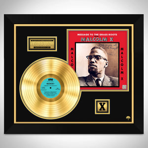 Malcolm X  Message to the Grass Roots Limited Signature Edition Studio Licensed Gold LP Custom Frame