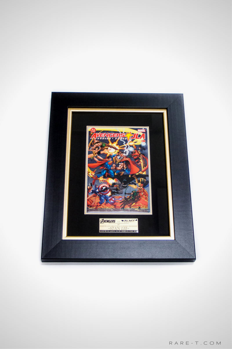 RARE-T Exclusive | #2 AVENGERS VS JUSTICE LEAGUE COMIC BOOK - signed by Stan Lee