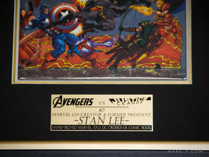 RARE-T Exclusive | #2 AVENGERS VS JUSTICE LEAGUE COMIC BOOK - Stan Lee close up product image plaque