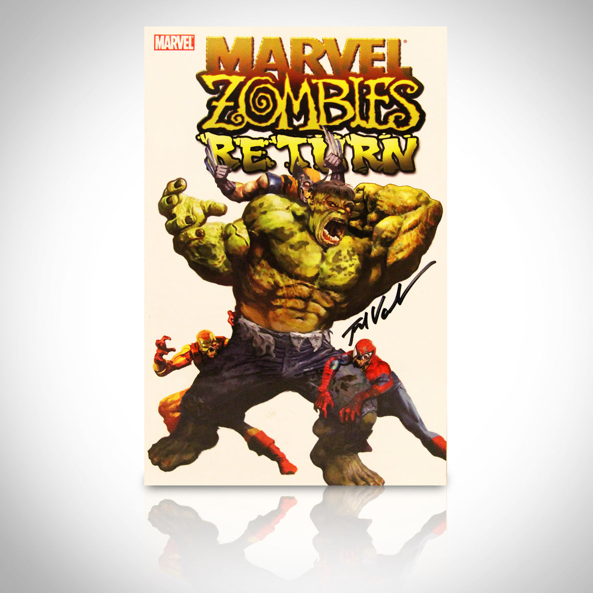 'MARVEL ZOMBIES RETURN #1 - HANDSIGNED BY FRED VAN LENTE' Comic Book