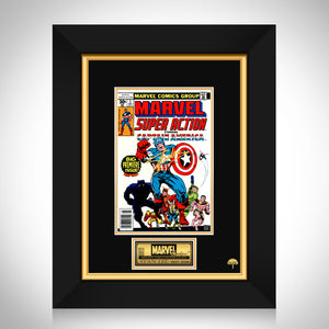Super Action Comics #1 - Stan Lee Limited Signature Edition Comic Book Cover Art Custom Frame