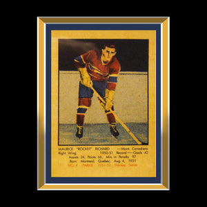 Maurice Richard- Montreal Canadians Hand-Signed Jersey By Maurice Richard Custom Shadow Box Frame
