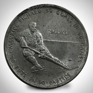Montreal Canadiens- Maurice Richard Vintage 1971 '50 Goals 50 Games' Coin