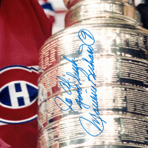 Montreal Canadiens- Maurice Richard & Stanley Cup Hand-Signed Photo by Maurice Richard  Custom Frame