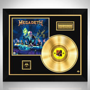 Megadeth 'Rust in Peace Hand-Signed 24K Gold Plated Lp Record & Lp Cover Custom Frame