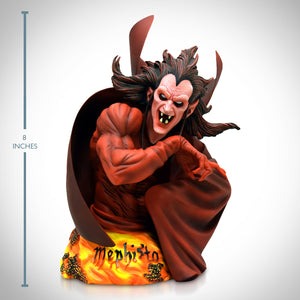 Mephisto- Vintage 2004 Limited Edition Bust Statue Hand Sculpted By Andy Bergholtz