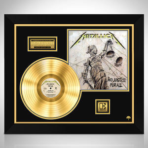 Metallica 'And Justice For All' Gold Lp Limited Collectors' Edition Studio Licensed Custom Frame