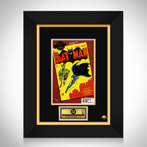Millennium Edition Batman (2000) #1 Hand-Signed Comic Book By Stan Lee Custom Frame