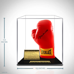 Muhammad Ali- Hand-Signed 14 Ounce Everlast Red Boxing Glove By Muhammad Ali Custom Museum Display