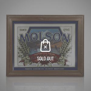 Molson Canada Geese Original Vintage Reverse Painted Beer/Ale Bar Mirror/Advertisement