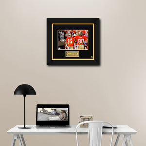 San Francisco 49Ers- Hand-Signed Photo By Joe Montana And Jerry Rice Custom Frame