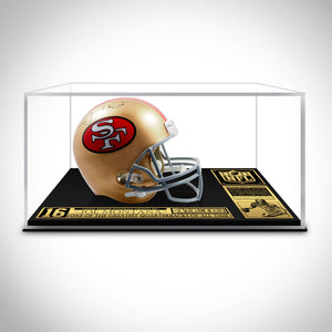 Joe Montana- Hand-Signed 49ers Full Size Helmet Museum Display