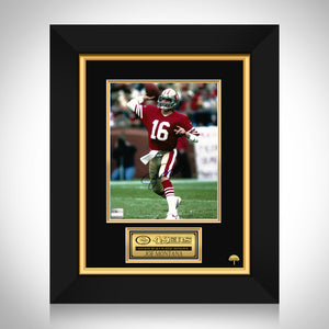 Joe Montana- San Francisco 49Ers Hand-Signed Photo By Joe Montana Custom Frame