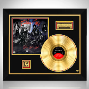 Motley Crue Girls Girls Girls Gold LP Limited Signature Edition Studio Licensed Custom Frame