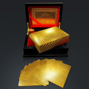 24K GOLD PLATED Mosaic Pattern PLAYING CARDS with Elegant Display Box