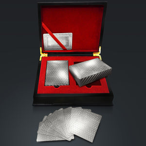 Platinum Plated Mosaic Playing Cards With Elegant Display Box