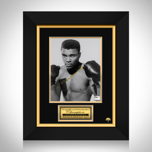Muhammad Ali- 'Gloves Up' Hand-Signed Photo By Muhammad Ali Custom Frame