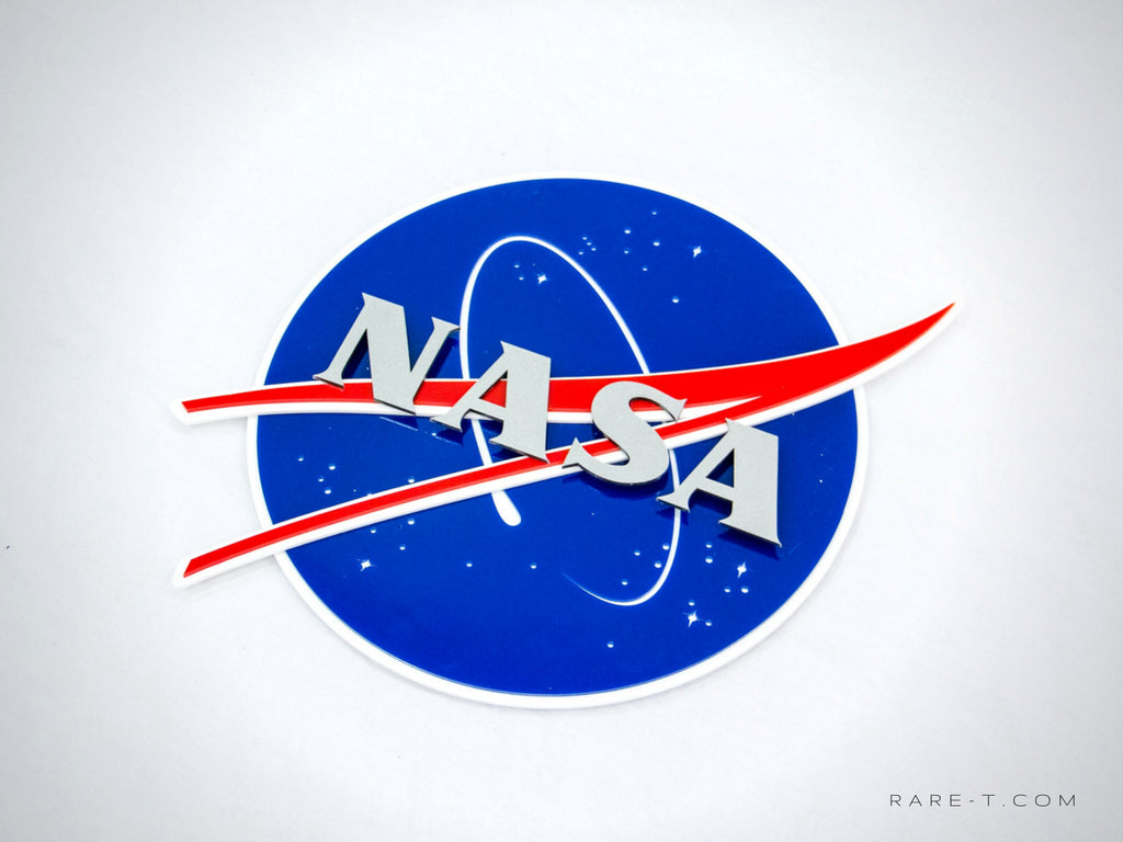 RARE-T | Corporate Boardroom 'NASA' Logo Sign - Glossy hard plastic corporate boardroom NASA logo sign/advertisement