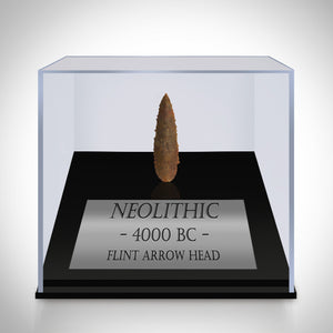 Neolithic Arrow Head - Authentic Antique Neolithic Arrow Head Custom Museum Display