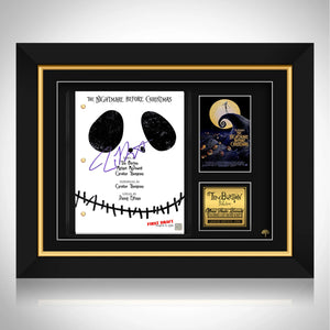 The Nightmare Before Christmas Movie Script Limited Signature Edition Studio Licensed Custom Frame
