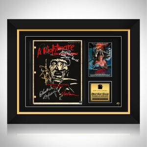 A Nightmare on Elm Street Script Limited Signature Edition Studio Licensed Custom Frame