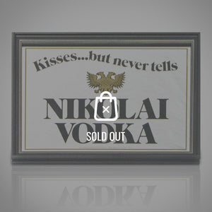 NIKOLAI VODKA Vintage REVERSE PAINTED Bar Mirror/Advertisement