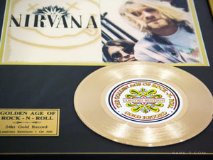 RARE-T Exclusive Limited Edition GOLD LP 'NIRVANA' Custom Frame | RARE-T