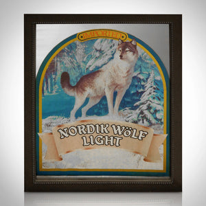 Carlsberg Beer - Nordik Wolf Original Vintage Bar Mirror Advertisement