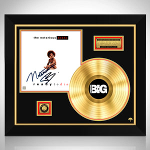 Notorious B.I.G. Ready To Die Gold LP Limited Signature Edition Studio Licensed Custom Frame