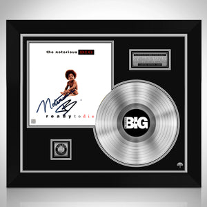 Notorious B.I.G. Ready To Die Platinum LP Limited Signature Edition Studio Licensed Custom Frame