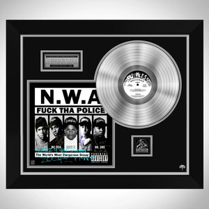 N.W.A. FUCK THA POLICE Limited Signature Edition Studio Licensed Platinum LP Custom Frame