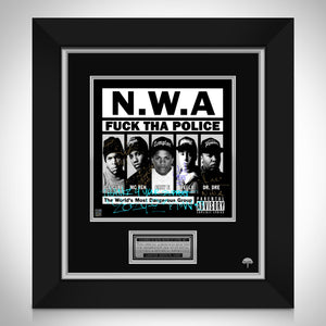 N.W.A. Fuck Tha Police LP Cover Limited Signature Edition Studio Licensed Custom Frame