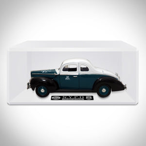 Nypd 1940 Ford Coupe 1/18 Die Cast Car Custom Display