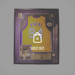 Rare-T Exclusive 'Shaquille O'Neal - Hand-Signed Nba Jersey' Custom Shadow Box Frame