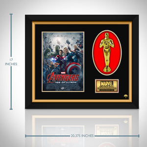 Avengers - Age of Ultron  Limited Edition Studio Licensed 24k Gold Plated Oscar Custom Frame