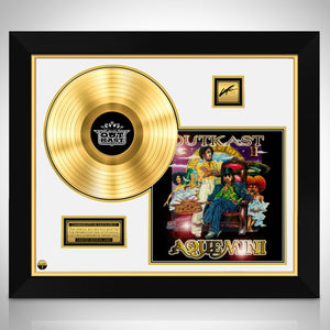 Outkast- 'Aquemini ' Limited Collectors' Edition Studio Licensed Gold LP Custom Frame