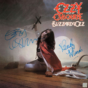 Ozzy Osbourne Blizzard of Ozz Gold LP 24K Limited Signature Edition Custom Frame