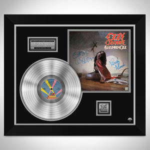 Ozzy Osbourne Blizzard of Ozz Platinum LP Limited Signature Edition Studio Licensed Custom Frame