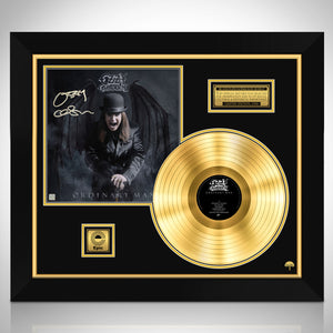 Ozzy Osbourne Ordinary Man Limited Signature Edition Studio Licensed Gold LP Custom Frame