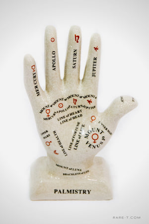 Craquelure Porcelain PALM READING/FORTUNE TELLING Hand-Guide | RARE-T