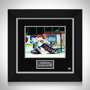 Patrick Roy- Montreal Canadians Hand-Signed Photo By #33 Patrick Roy Custom Frame