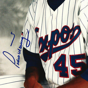 Pedro Martinez- Psa/Dna Certified Hand-Signed Montreal Expos Photo By Pedro Martinez Custom Frame