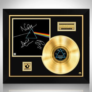 Pink Floyd - Dark Side Of The Moon Gold LP  Limited Signature Edition Studio Licensed Custom Frame