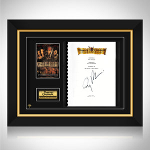 Pirates of the Caribbean - The Curse of the Black Pearl Beckett Certified Hand-Signed Script By Jerry Bruckheimer Custom Frame
