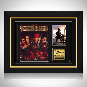 Pirates Of The Caribbean The Curse Of The Black Pearl Script Limited Signature Edition Custom Frame