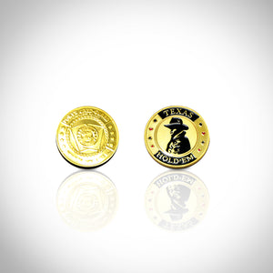 24K Gold Plated 'Texas Hold'Em-Poker Chip Card Guard'