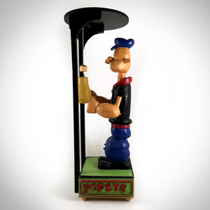 Large Wooden Handcrafted 'Folk Art' Popeye With Mechanical Boxing Motion